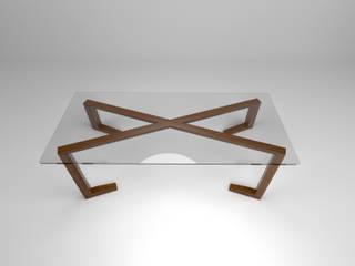 FLOM Study/officeDesks Glass Wood effect