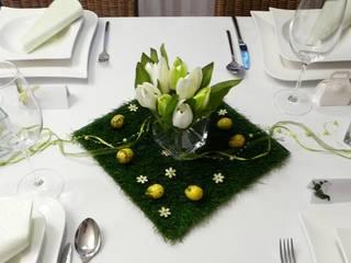 Frühlingsdeko und Tischdeko zu Ostern. Tischdekoration für den Frühling Tischdeko-online Einfamilienhaus