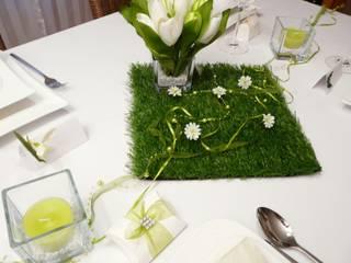 Frühlingsdeko und Tischdeko zu Ostern. Tischdekoration für den Frühling Tischdeko-online Balkon