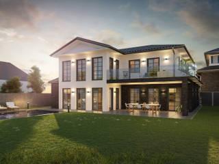 Villa mit Pool Architekturvisualisierung Matzerath Villa