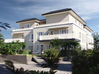 Stilvolles Mehrfamilienhaus Architekturvisualisierung Matzerath Mehrfamilienhaus