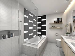 FIVE STONES CONDOMINIUM Scandinavian style bathroom by Simsan Design Scandinavian