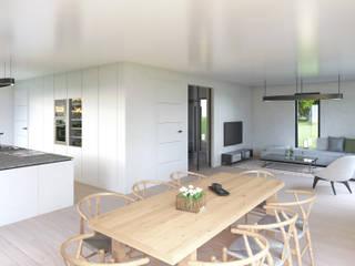 Modernes Mehrfamilienhaus Architekturvisualisierung Matzerath Küchenzeile