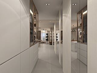 Modern Corridor, Hallway and Staircase by Simsan Design Modern