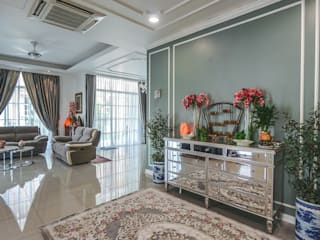 Classic style corridor, hallway and stairs by Simsan Design Classic