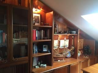 Libreria classica in irroko massello di Ebanisteria Venuto Classico