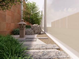 Verde Lavanda Zen garden