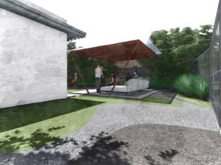 Verde Lavanda Modern balcony, veranda & terrace