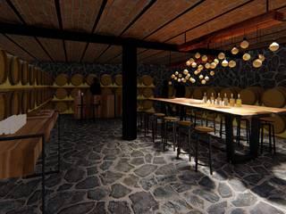 Verde Lavanda Colonial style wine cellar
