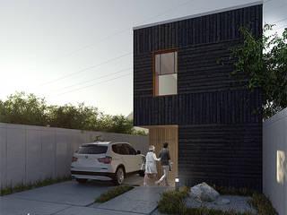 Vértice estudio de arquitectura Terrace house Black