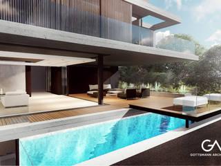 Balcones y terrazas modernos: Ideas, imágenes y decoración de Gottsmann Architects Moderno