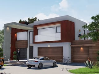 jonroy design studio Casa unifamiliare Rame / Bronzo / Ottone Bianco
