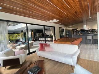 Área Gourmet e Cozinhas Contemporâneas M2T1 Salas de estar modernas