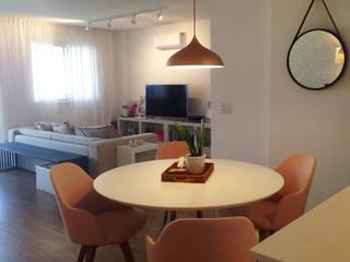Apartamento Fe Britto (Dupla Carioca) Salas de jantar modernas por Duplex Interiores Moderno