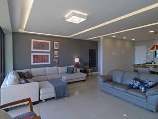 Projeto Apartamento Barra da Tijuca lll Salas de estar ecléticas por Duplex Interiores Eclético