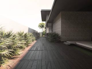 VILLA BARRIAL Pasillos, vestíbulos y escaleras modernos de Espacio Arquitectura Moderno
