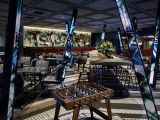 つるとんたん UDON NOODLE Brasserie SHIBUYA モダンなレストラン の 株式会社DESIGN STUDIO CROW モダン