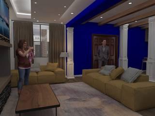 Remodelacion Cocina y Sala Salones modernos de Bocetos Studio Aquitectos Moderno