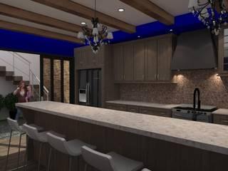 Remodelacion Cocina y Sala Cocinas modernas de Bocetos Studio Aquitectos Moderno