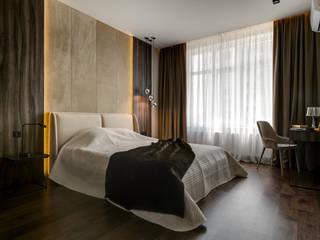 Современная квартира в ЖК Новопечерские Липки Спальня в стиле модерн от homeinteriors Модерн