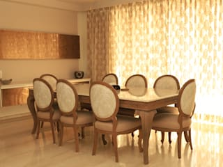Apartment Design in Park View Spa, Gurgaon Stonehenge Designs Classic style dining room