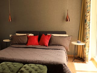 Apartment Design in Park View Spa, Gurgaon Minimalist bedroom by Stonehenge Designs Minimalist