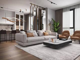 Дизайн квартиры в стиле Contemporary Гостиная в стиле модерн от homeinteriors Модерн
