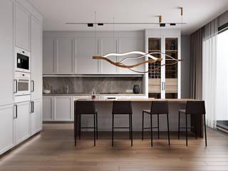 Дизайн квартиры в стиле Contemporary Кухня в стиле модерн от homeinteriors Модерн