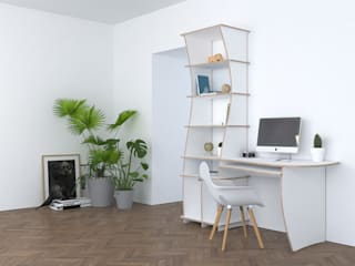 form.bar Study/officeDesks Engineered Wood White