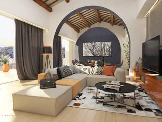 Casa a Montespertoli Soggiorno moderno di Studio Bennardi - Architettura & Design Moderno