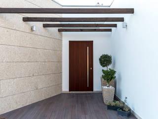 Mundartificial Porte d'ingresso Alluminio / Zinco Effetto legno