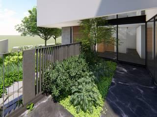 Verde Lavanda Modern style gardens