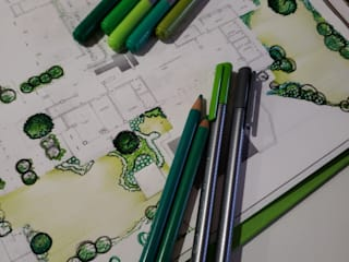 Verde Lavanda Modern garden