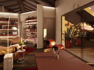 Un living dall'atmosfera Country-Chic Soggiorno eclettico di Teresa Romeo Architetto Eclettico