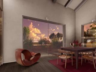 Un living dall'atmosfera Country-Chic Sala da pranzo eclettica di Teresa Romeo Architetto Eclettico