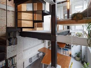 YY house・office・kitchen オリジナルデザインの 書斎 の アキチ アーキテクツ 一級建築士事務所 Akiti architects オリジナル