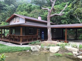 新竹峨眉-呂公館 居林木構建築|木屋設計|木屋建造|木屋保養|整體規劃設計營建|歡迎email聯繫 木屋 木頭 Brown