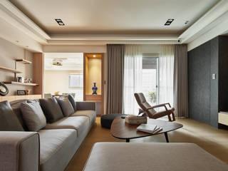 奇玉 城隅設計 现代客厅設計點子、靈感 & 圖片 Multicolored
