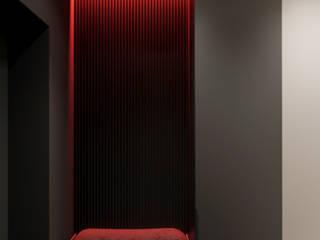 Full_red_panorama Коридор, прихожая и лестница в стиле минимализм от PARA stuio Минимализм