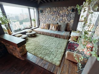 Eclectic style living room by FNW(全港)一站式裝修材料 Eclectic