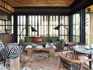 Sustainability Sunbrella Rustic style living room