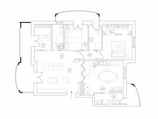 hiện đại  theo antonio felicetti architettura & interior design, Hiện đại