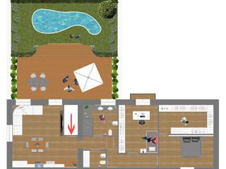 Hiên, sân thượng phong cách tối giản bởi antonio felicetti architettura & interior design Tối giản