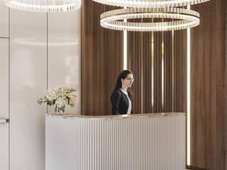"""Sales office of company """"Evrostroy"""" Офисные помещения в эклектичном стиле от ENVISO Эклектичный"""
