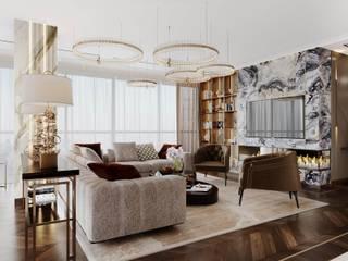 Apartment in the residential complex Гостиные в эклектичном стиле от ENVISO Эклектичный
