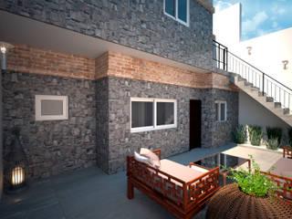 D4-Arquitectos Cobertizos Piedra Gris