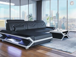 DIVANOVA Living roomSofas & armchairs Leather Black
