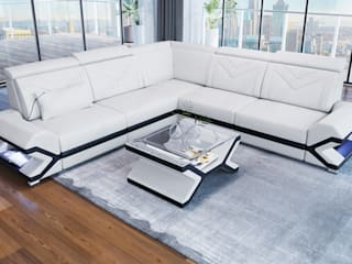 DIVANOVA Living roomSofas & armchairs Leather White