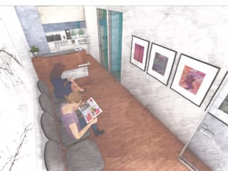 Verde Lavanda Modern study/office