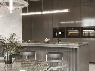 Betonowe mieszkanie Sadowska-interiors Aneks kuchenny